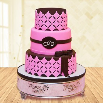 3 Tier Diamond Fondant Cake