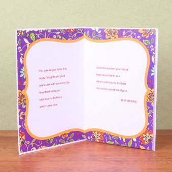 Greeting Card with Opened View