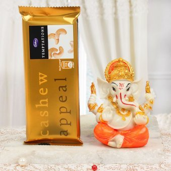 Divine Presence Cashew Temptaion with Ganesha Idol