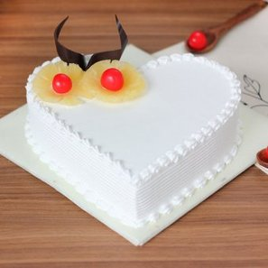Dream Come True - Heart Shaped Pineapple Cake with Normal View