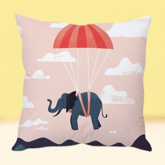Elephant In The Air Cushion