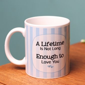 A Lifetime Love Mug with Backside View