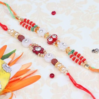 Enjoying Siblinghood - A Set of Designer Rakhis