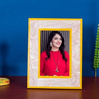 Light Pink Rectangle Photo Frame