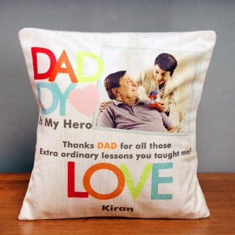 Personalised Cushion for Hero Dad