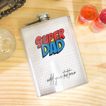 Fancy Fathers day Stainless Steel Hip Flask