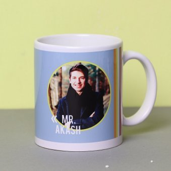 A Personalised Mug with Front Sided View