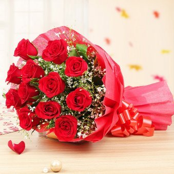 12 red roses bunch in Feel My Love