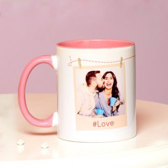 A Personalised Love Mug with Back Sided View
