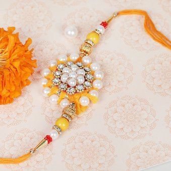 Floral Pearl Rakhi for Brother
