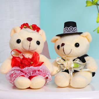 Beige Teddy Love Couple