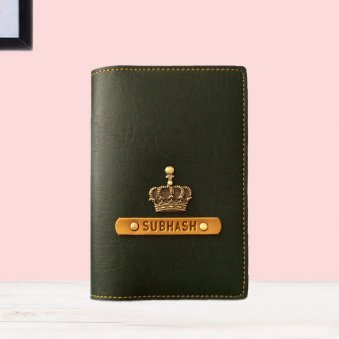 Forest Green Personalised Passport Cover