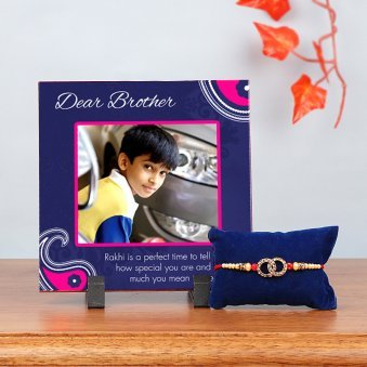 Photo Frame with Rakhi