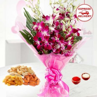 Fresh Flowers for Brothers on bhai dooj