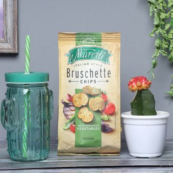 Chips with Moon Cactus Plant and Glass Mug Combo