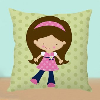 Girl's World Cushion