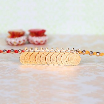 Gold Coin Rakhi