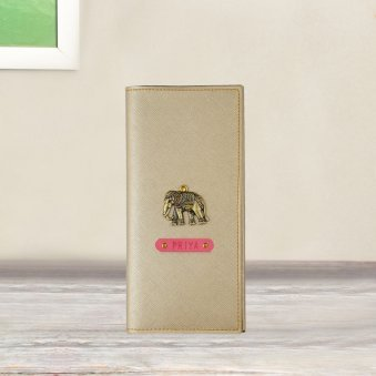 Gold Color Personalised Passport Holder