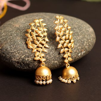 Gold Plated Lead Doom Shaped Earring