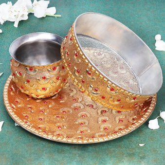Karwa Chauth Pooja Thali Set - Shop Now