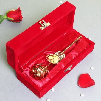 Golden Rose in Box