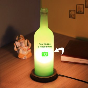Personalised Green Lamp with Closer View
