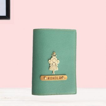 Green Personalised Passport Cover