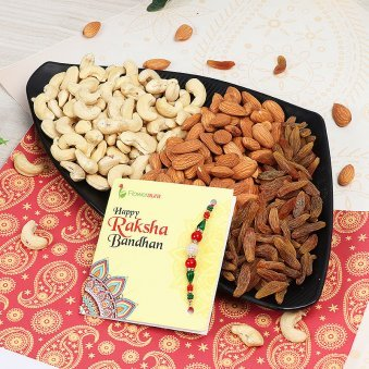 Rakhi with One Kg Mixed Dry Fruits