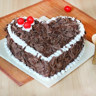 Heart-Touching Black Forest Cake - A Heart Shape Cake