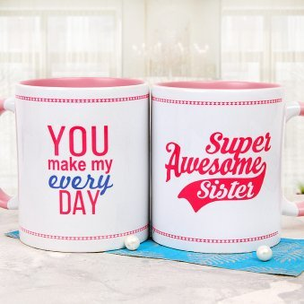 Heart Touching Gesture Sister Mug