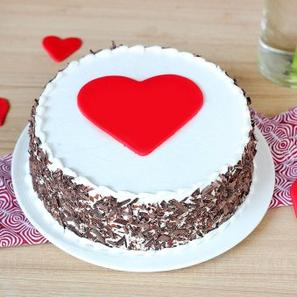 Black forest cake with hearts
