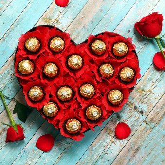Heart Shaped Chocolate Arrangement