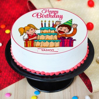 Round Animated Cake for Children