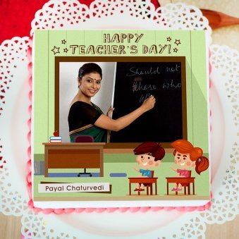 Teachers Day Photo Cake