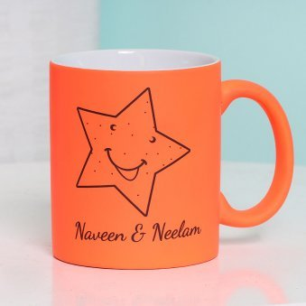 Personalised Orange Love Mug