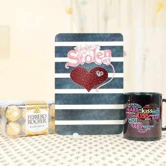 A Combo of Greeting Card and a Mug with Ferrero Rocher Chocolates