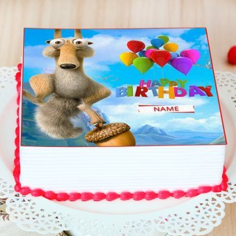 Ice Age Photo Cake - Zoom View
