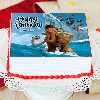 Ice Age Photo Cake For Children - Zoom View
