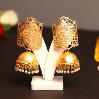 Gold Colour Plated Contempory Jhumkas