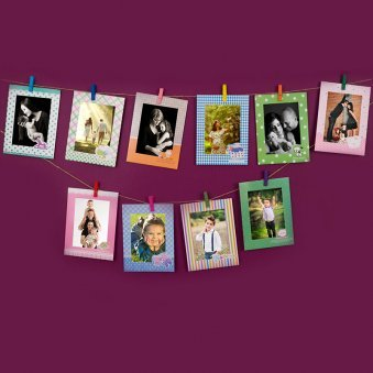 Set of 10 Cardboard Photo Frames