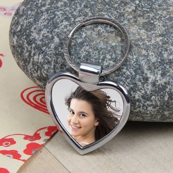 Personalize Heart Shape Keychains