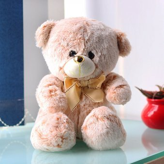 11 Inches Beige Colored Teddy