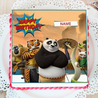 Kungfu Panda Photo Cake For Baby Boys