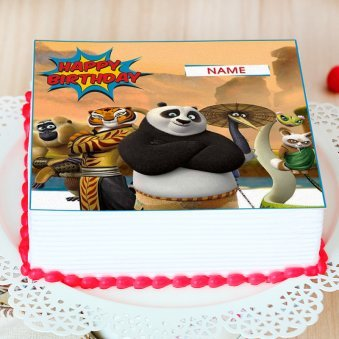 Kungfu Panda Photo Cake - Zoom View