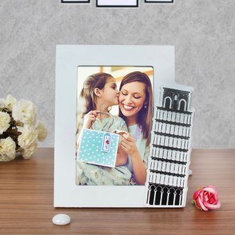 Leaning Tower of Love - Personalised Photo Frame with Pisa Tower