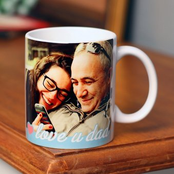 Love You Dad Printed Personalised Mug