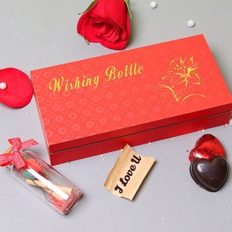 Handmade Chocolates in Box with love Letter Combo