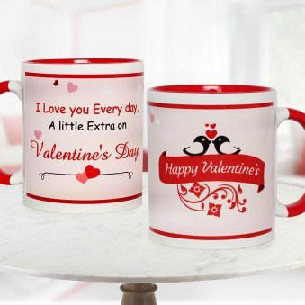 Love Overloaded Mug for Valentine with Both Sided View