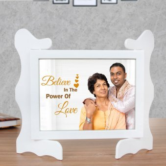 Love Quotient - Personalised Photo Frame Gift with Front View
