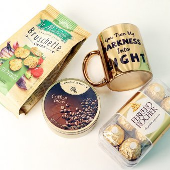 Mug with Chocolates and Snacks Combo